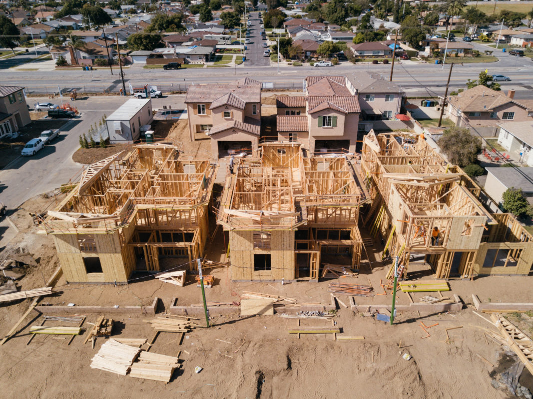Los Angeles Aerial Image Construction Site Progress Photography
