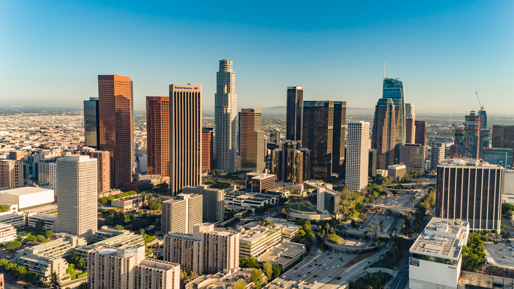 Los Angeles Aerial Image Downtown Los Angeles Photography