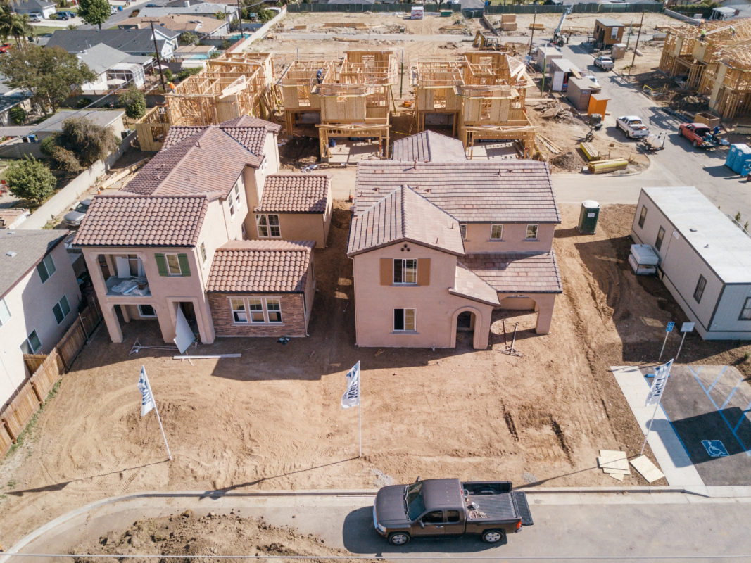 Los Angeles Aerial Image Construction Progress Photography